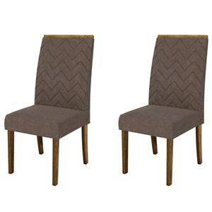 Kit 2 Cadeiras para Sala de Jantar Áurea Demolição/Marrom - DJ Móveis