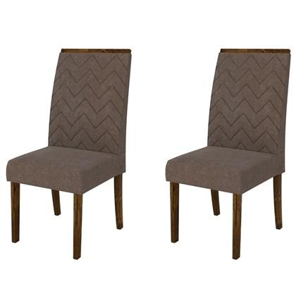 Kit 2 Cadeiras para Sala de Jantar Áurea Malbec/Marrom - DJ Móveis