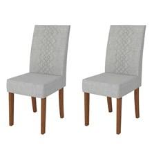 Kit 2 Cadeiras para Sala de Jantar Olimpia Terrara/Claro - DJ Móveis