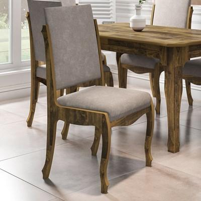 Kit 2 Cadeiras Para Sala de Jantar Ônix Amadeirado/Pena Caramelo - RV Móveis