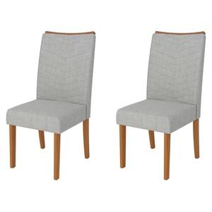 Kit 2 Cadeiras para Sala de Jantar Serena Carvalho/Claro - DJ Móveis