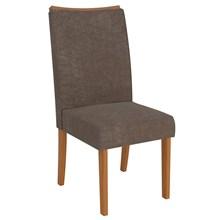 Kit 2 Cadeiras para Sala de Jantar Serena Carvalho/Marrom - DJ Móveis