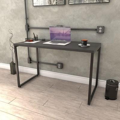 Kit 2 Mesas de Escritório Office 120cm Estilo Industrial Prisma Preto Onix - Mpozenato