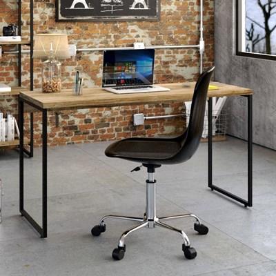 Kit 2 Mesas de Escritório Office 135cm Estilo Industrial Prisma C08 Carvalho - Mpozenato