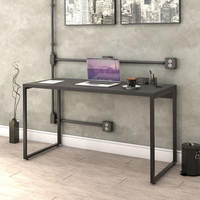 Kit 2 Mesas de Escritório Office 135cm Estilo Industrial Prisma Preto Onix - Mpozenato