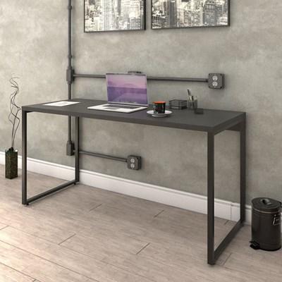 Kit 2 Mesas de Escritório Office 150cm Estilo Industrial Prisma Preto Onix - Mpozenato