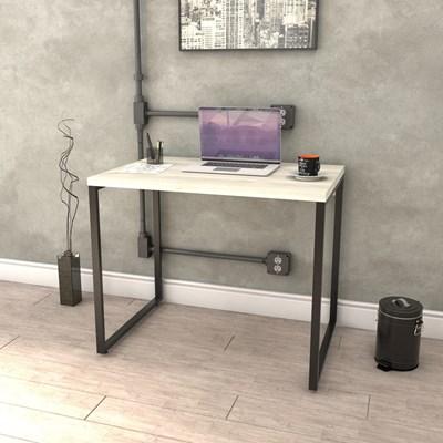 Kit 2 Mesas de Escritório Office 90cm Estilo Industrial Prisma Snow - Mpozenato