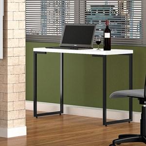 Kit 2 Mesas Para Computador Escrivaninha Porto 120cm Pés Metálicos Branco - Fit Mobel