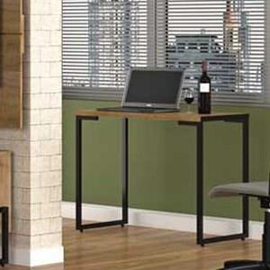 Kit 2 Mesas Para Computador Escrivaninha Porto 120cm Pés Metálicos Castanho - Fit Mobel