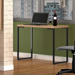 Kit 2 Mesas Para Computador Escrivaninha Porto 120cm Pés Metálicos Nature - Fit Mobel