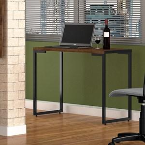 Kit 2 Mesas Para Computador Escrivaninha Porto 90cm Castanho - Fit Mobel