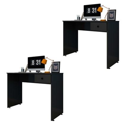 Kit 2 Mesas para Computador Notebook Escrivaninha 101cm Dubai L03 Preto - Mpozenato