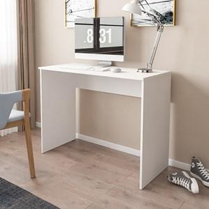 Kit 2 Mesas para Computador Notebook Escrivaninha 101cm Slim Branco - Mpozenato