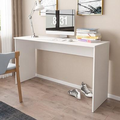 Kit 2 Mesas para Computador Notebook Escrivaninha 136cm Slim A01  Branco - Mpozenato