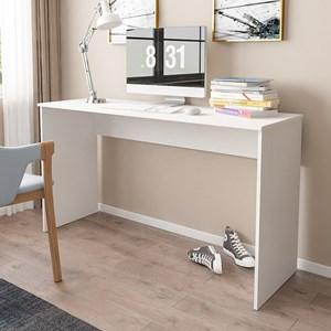 Kit 2 Mesas para Computador Notebook Escrivaninha 136cm Slim Branco - Mpozenato