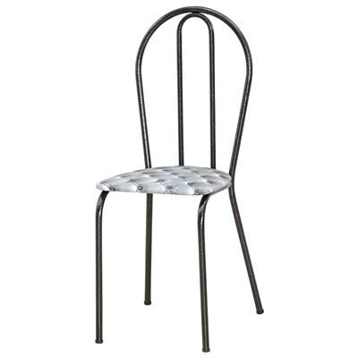 Kit 4 Cadeiras 004 Cromo Preto/Capitonê  - Artefamol