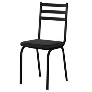 Kit 4 Cadeiras 118 Europa Preto - Artefamol