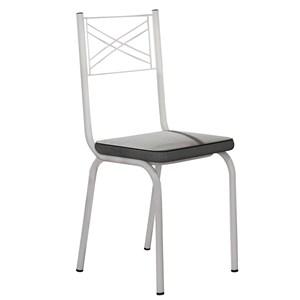 Kit 4 Cadeiras 119 Europa Branco/Platina - Artefamol