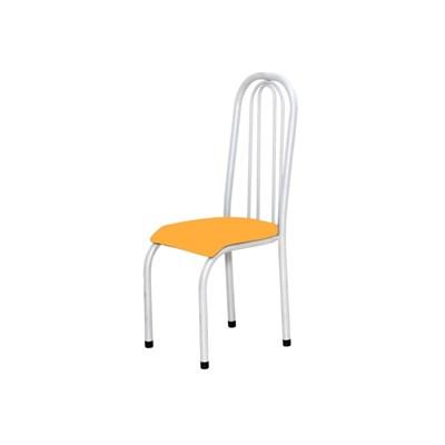 Kit 4 Cadeiras Altas 0.123 Anatômica Branco/Laranja - Marcheli