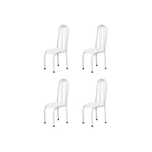 Kit 4 Cadeiras Altas 0.123 Anatômica Branco - Marcheli