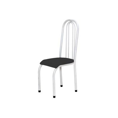 Kit 4 Cadeiras Altas 0.123 Anatômica Branco/Preto - Marcheli