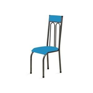 Kit 4 Cadeiras Anatômicas 0.120 Estofada Craqueado/Azul - Marcheli