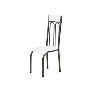 Kit 4 Cadeiras Anatômicas 0.120 Estofada Craqueado/Branco - Marcheli