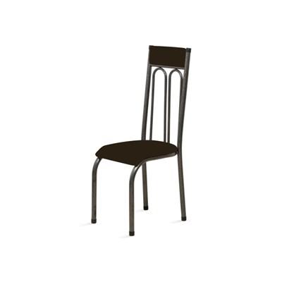 Kit 4 Cadeiras Anatômicas 0.120 Estofada Craqueado/Marrom Escuro - Marcheli