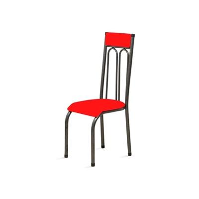 Kit 4 Cadeiras Anatômicas 0.120 Estofada Craqueado/Vermelho - Marcheli