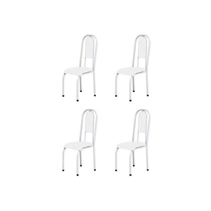 Kit 4 Cadeiras Anatômicas 0.122 Estofada Branco - Marcheli