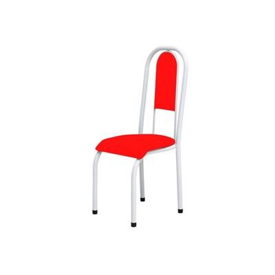 Kit 4 Cadeiras Anatômicas 0.122 Estofada Branco/Vermelho - Marcheli