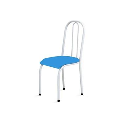 Kit 4 Cadeiras Baixas 0.104 Anatômica Branco/Azul - Marcheli