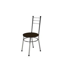 Kit 4 Cadeiras Baixas 0.236 Redonda Cromado/Tabaco - Marcheli