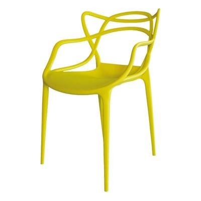 Kit 4 Cadeiras Decorativas Para Sala de Jantar Amsterdam F01 Amarela - Mpozenato