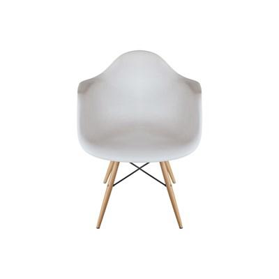 Kit 4 Cadeiras Eiffel Melbourne F01 Branca com Pés Palito em Madeira - Mpozenato