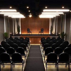 Kit 5 Cadeiras Hoteleira Auditório Hotel Empilhável Fixa Preta - Pethiflex
