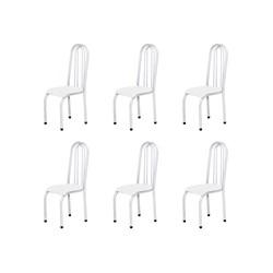 Kit 6 Cadeiras Altas 0.123 Anatômica Branco - Marcheli
