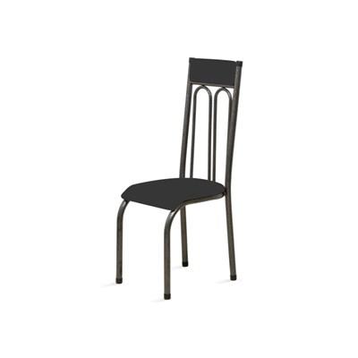 Kit 6 Cadeiras Anatômicas 0.120 Estofada Craqueado/Preto - Marcheli