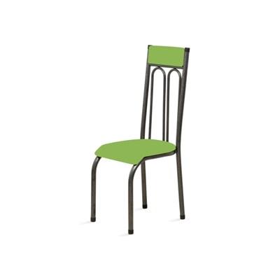 Kit 6 Cadeiras Anatômicas 0.120 Estofada Craqueado/Verde - Marcheli