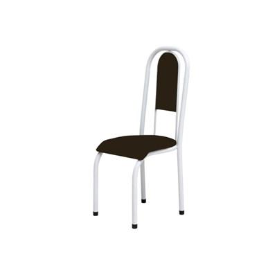 Kit 6 Cadeiras Anatômicas 0.122 Estofada Branco/Marrom Escuro - Marcheli