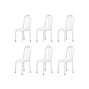 Kit 6 Cadeiras Baixas 0.104 Anatômica Branco - Marcheli