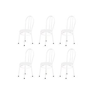 Kit 6 Cadeiras Baixas 0.134 Redonda Branco - Marcheli