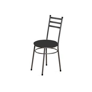 Kit 6 Cadeiras Baixas 0.135 Redonda Craqueado/Preto - Marcheli