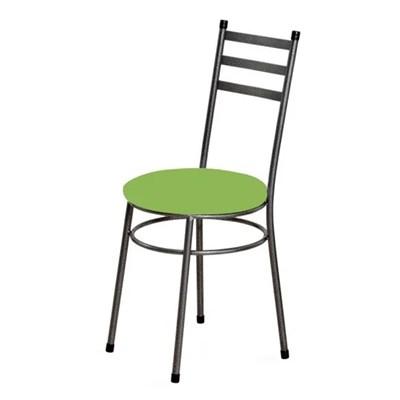 Kit 6 Cadeiras Baixas 0.135 Redonda Craqueado/Verde - Marcheli