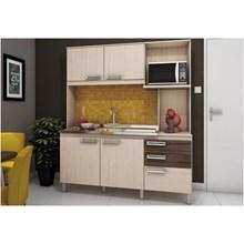 Kit Cozinha Compacta 05 Portas B108 Fendi/Moka - Briz
