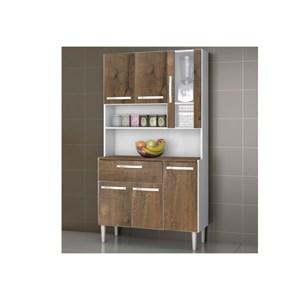 Kit Cozinha Compacta 06 Portas Cancun Branco/Malbec - MPdecor