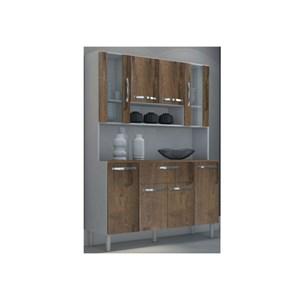 Kit Cozinha Compacta 08 Portas Cancun Branco/Malbec - MPdecor