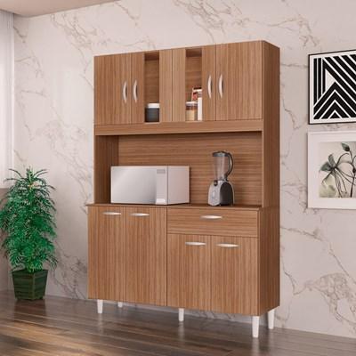 Kit Cozinha Compacta 8 Portas 1 Gaveta Magda Capuccino - Poquema