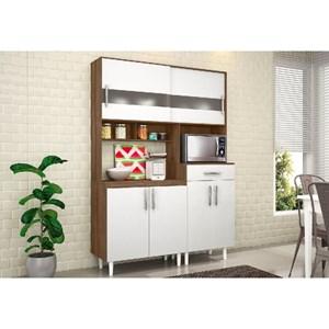 Kit Cozinha Compacta Carol Terraro/Branco - MoveMax