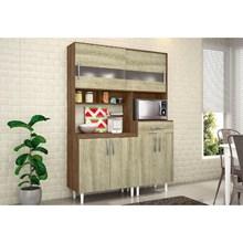 Kit Cozinha Compacta Carol Terraro/Carvalho - MoveMax